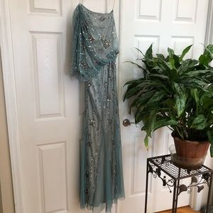 Cache Mermaid Style Sequined Evening Gown
